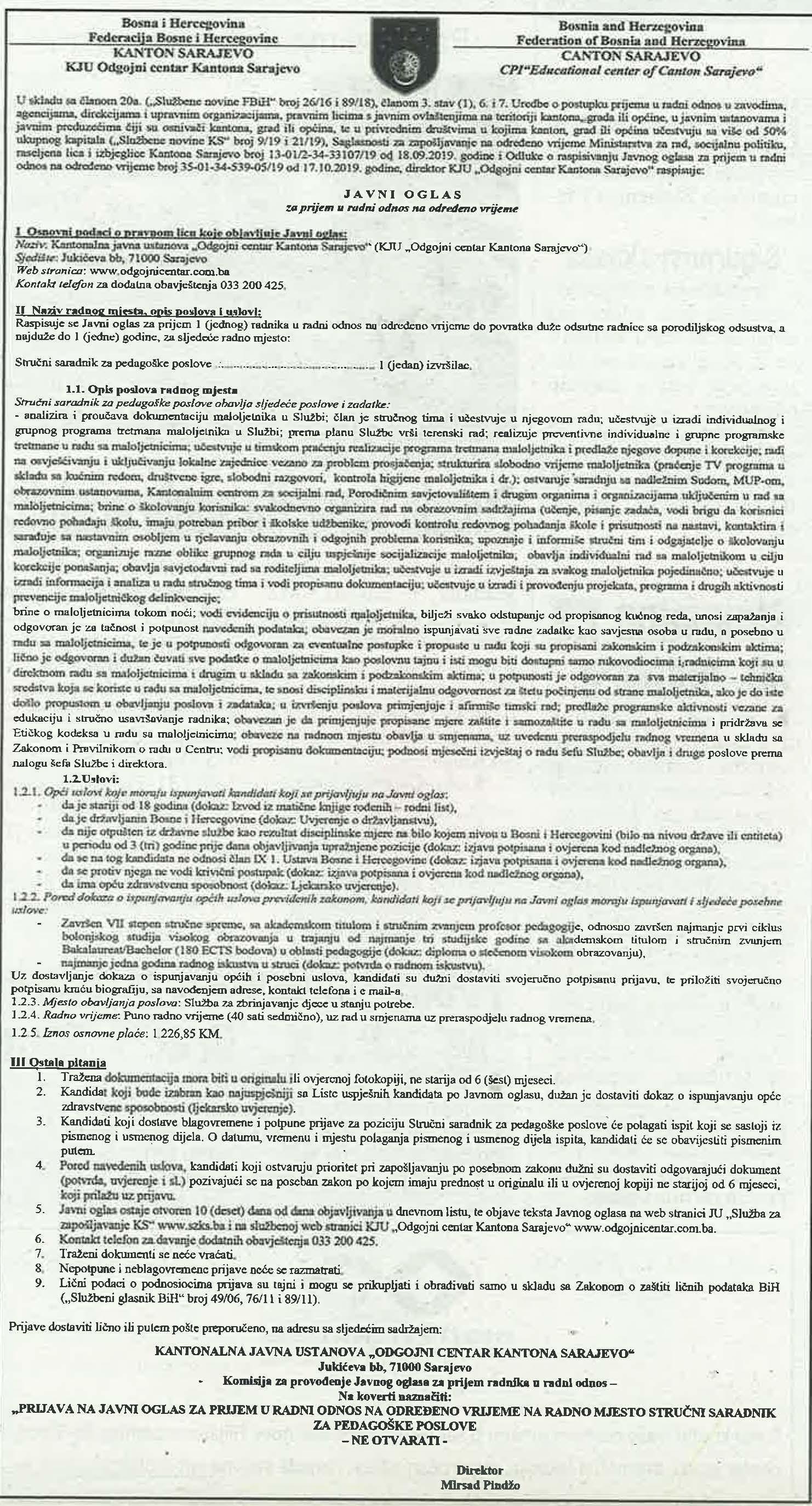 Kontakti sarajevo oglasi Gay oglasi